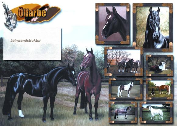 Sonnenstein Ölbild, Ölgemälde Pferd, Öl Leinwand Witzdam